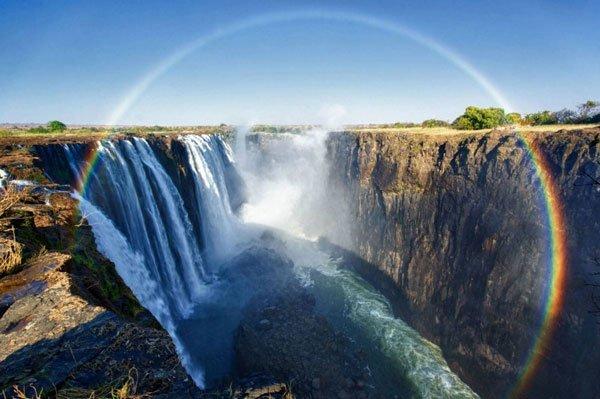 Emergenza siccità Cascate Vittoria in Africa: