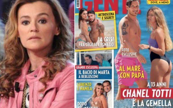 Foto di Chanel Totti in costume da bagno: Ilary Blasi e Francesco Totti indignati contro la direttrice di Gente