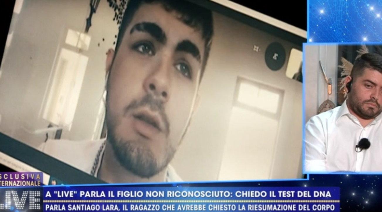 Il figlio non riconosciuto di Maradona a Live Non è la D'Urso: